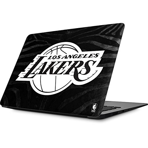 Skinit NBA Los Angeles Lakers MacBook Air 13.3 (2010-2016) Skin - Los Angeles Lakers Black Animal Print Design - Ultra Thin, Lightweight Vinyl Decal Protection by Skinit