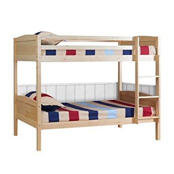 Uenjoy 198 X 151 6 X 101 5 Cm 3ft Solid Pine Wood Double Single Bunk
