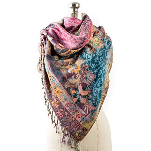 4d7c7e976 Bohomonde, Bethshaya Reversible Cashmere Silk Pashmina Scarf, hand made in  India