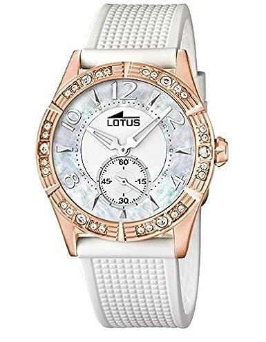 LOTUS 15874/1 SEÑORA CHAPADO ORO ROSA, CORREA DE SILICONA: Amazon.es: Relojes