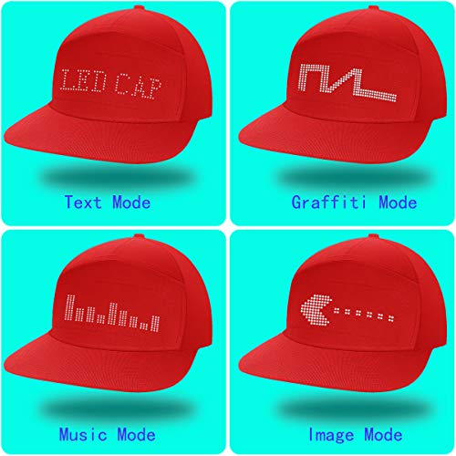 shunpad Party Hats for Men Woman Boy Girl Baseball Basketball Dance Caps Upgrade Red