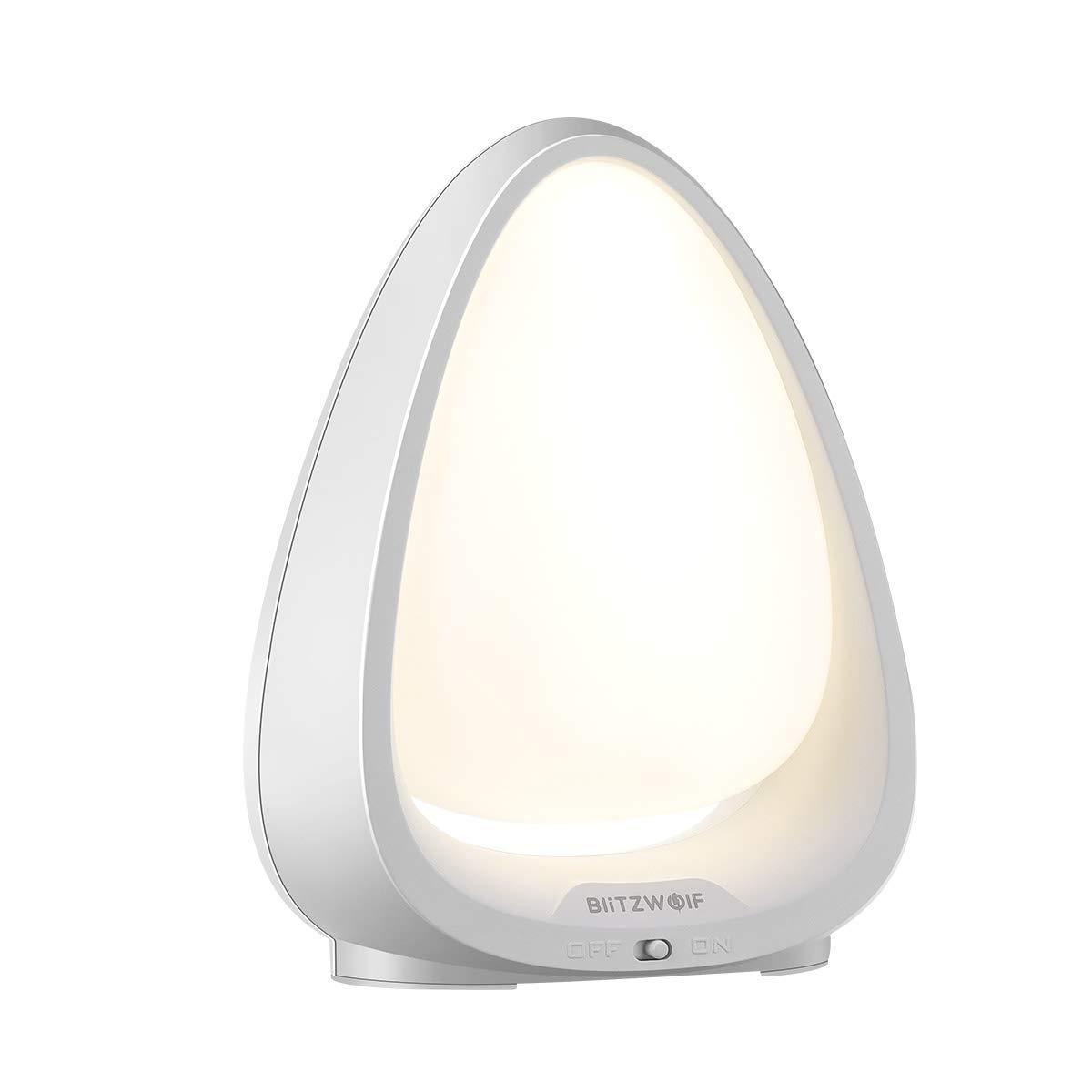LED Nachtlicht, BlitzWolf Berührungssensor Kinder Nachtlampe mit Warmweißes Licht und Farbwechsel-Modus, Safe ABS + PC, 240°Beleuchtungswinkel und 72-Stunden Standby-Zeit für Babyzimmer, Schlafzimmer, Wohnräume(4000K Farbtemperatur) BW-LT9
