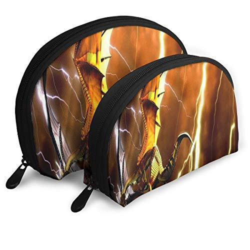 Makeup Bag Reptiles-dragon-wallpaper-for-desktop-1600x900 Portable Shell Storage Bag For Girls Halloween Gift 2 Pack