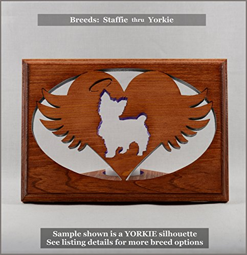 Cottage Staffordshire (Dog Memorial Tea Light • Breeds STAFFIE thru YORKIE ○Personalized○Pet Loss○Sympathy○Remembrance○Candle Holder)