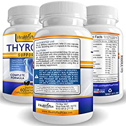 Thyroid Support Supplement - Complete Vegetarian Formula for Increased Metabolism & Effective Weight Loss - Highest Quality Natural Ingredients Including L-tyrosine, Iodine & Vitamin B12