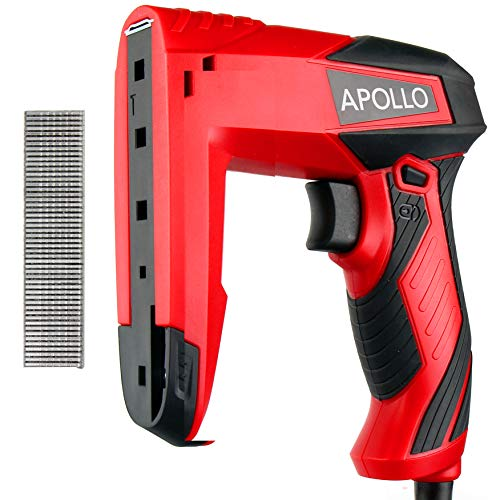 Hi-Spec Electric Dual Function Staple Gun and Brad Nailer Kit, Staples and...