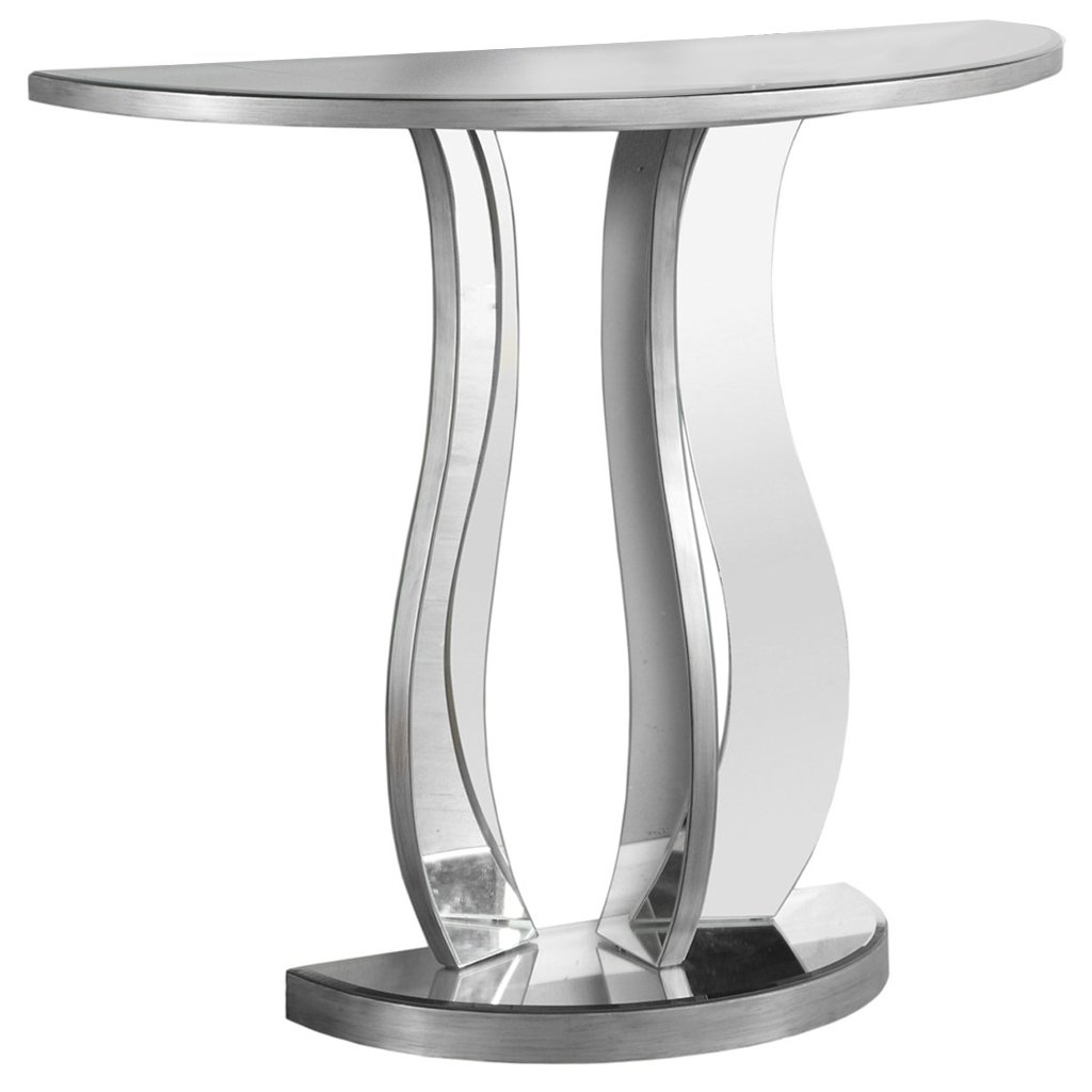 Monarch Specialties I Accent Sofa Hall Console Table, 32.5''H, Brushed Pewter by Monarch Specialties