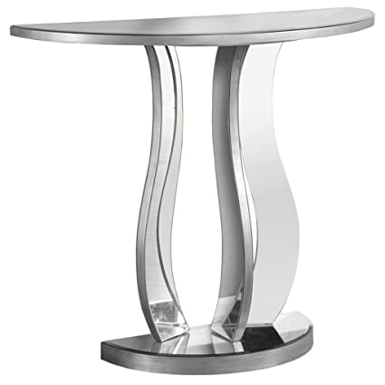 Monarch Console Table, 36u0026quot;, Brushed Pewter