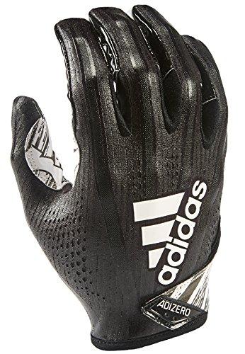 adidas AF1001 Adizero 7.0 Speed of Light Receiver's Gloves, Black, Large