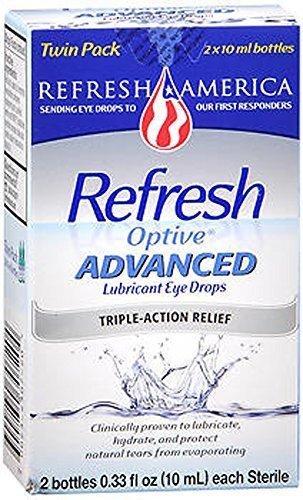 Refresh Optive Lubricant Eye Drops Advanced - 0.33 fl oz twin pack by Refresh
