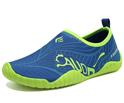 CIOR Kids Water Shoes Quick-Dry Boys and Girls Slip-on Aqua Beach Sneakers (Toddler/Little Kid/Big Kid),VY03,3blue,32 0