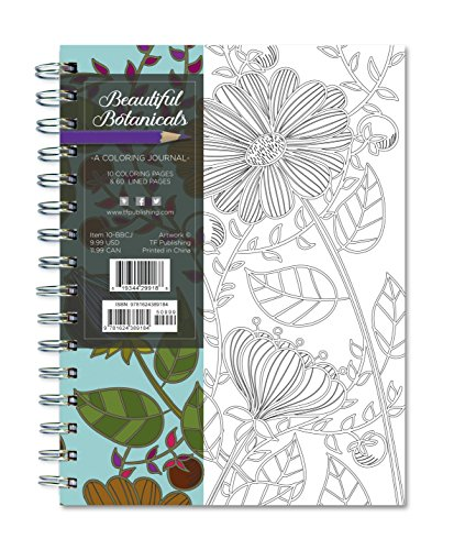 Beautiful Botanicals 140 Page Coloring Journal (Rainbow Collection Journals) ()