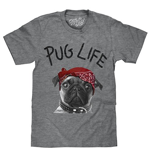 (Tee Luv Pug Life T-Shirt - Pug Dog Graphic Tee Shirt (Medium))