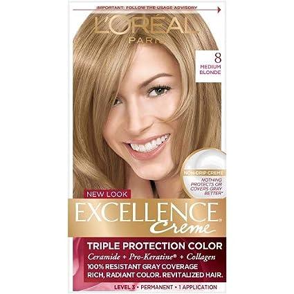 Buy Loreal Paris Excellence Creme Haircolor Medium Blonde 8 Online