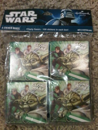 Star Wars The Clone Wars Sticker Boxes Party Favors - 100 Stickers per box