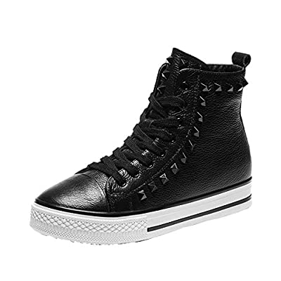 Ryse Women's Fashionable Rivet Breathable Casual Shoes Lace-up Short Boot Sneakers