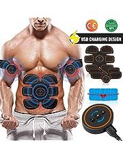 Openuye Electrostimulateur Musculaire EMS Rechargeable Appareil Abdominal Muscle Stimulateur Ceinture Rhythm Soft Impulse 60 Modes de Conception de Niveau Hommes Femmes