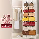 Lecent@ 2 PCS/lot Over Door Straps Hanger Hooks Lanyard Hanger Adjustable Hat Bag Organizer Handbags/Purses/Scarves/Hats Rack
