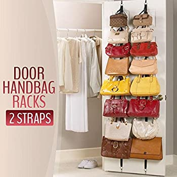 Lecent@ 2 PCS/lot Over Door Straps Hanger Hooks Lanyard Hanger Adjustable  Hat Bag