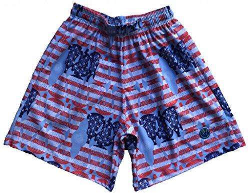 LAX SO HARD Mens American Flag Lacrosse Shorts, (Mens Lacrosse Shorts)