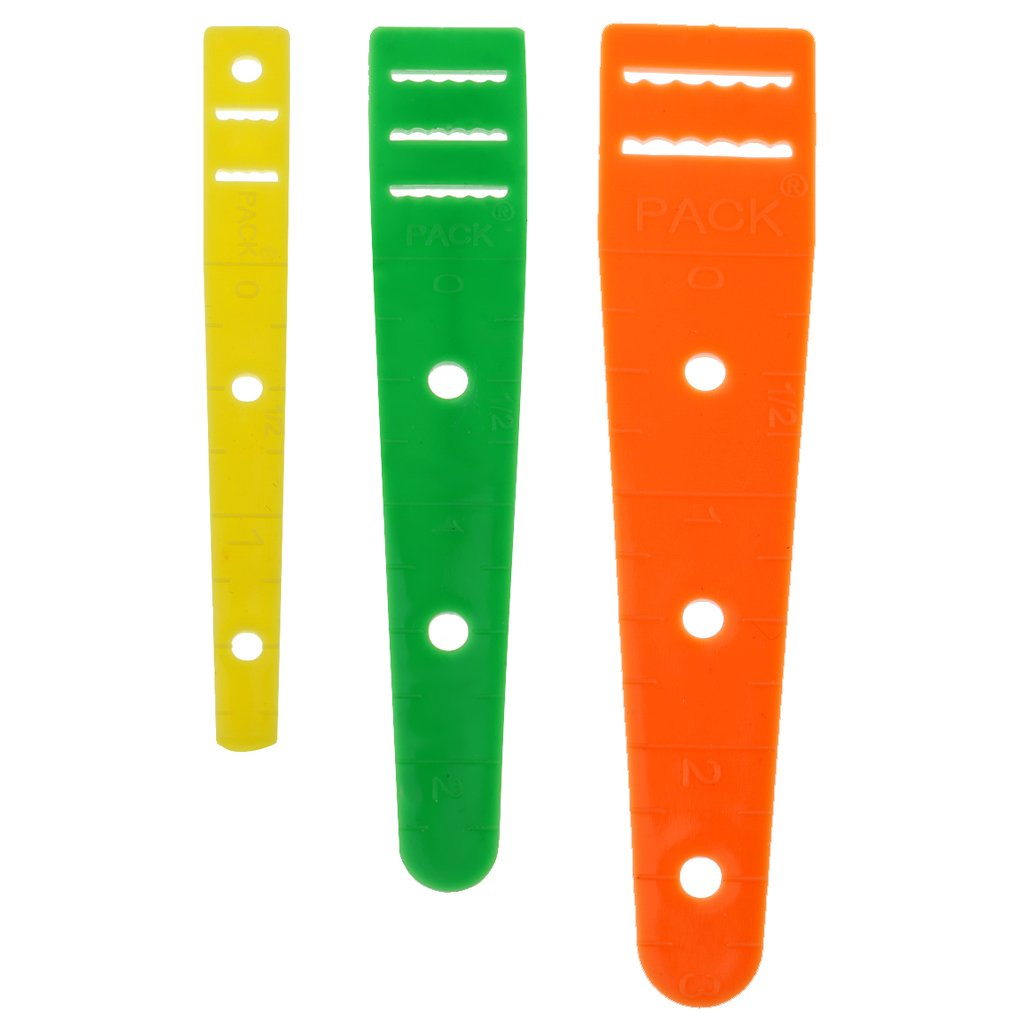 FITYLE 3 Pieces Plastic Elastic Guides Glides Threader 7.5mm, 8.7mm & 10mm Threading Elastic/Ribbon/Bag Rope/Belts DIY Sewing Accessories