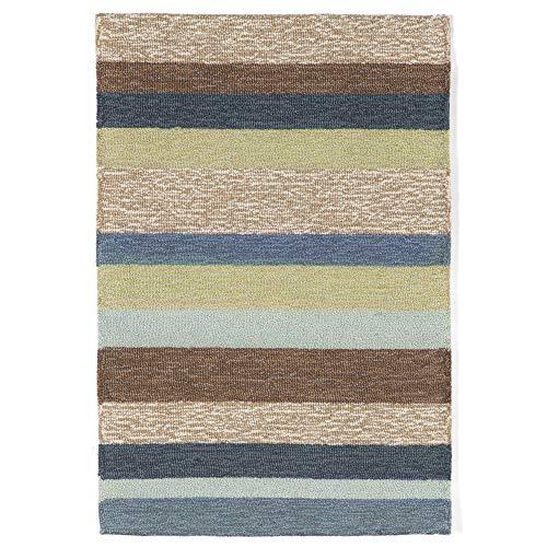 (Ravella Stripe Denim Indoor / Outdoor Rug Rug Size: 2' x 3')