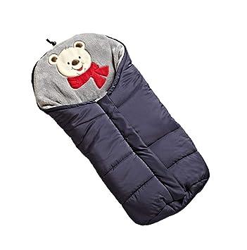 Lvbeis Cochecito De Bebé Saco De Dormir TéRmico Saco Al Aire Libre Swaddle Wrap Manta Anti-Kicking Sleeping Nest,Black: Amazon.es: Deportes y aire libre