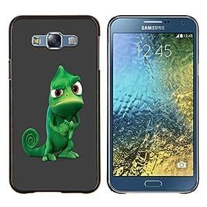 LECELL--Funda protectora / Cubierta / Piel For Samsung Galaxy E7 E700 -- Camaleón Tough divertido --