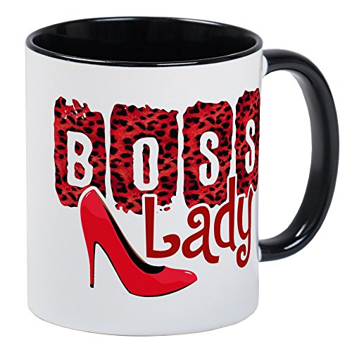 CafePress Boss Lady Red Leopard Mugs Unique Coffee Mug, Coffee Cup ()