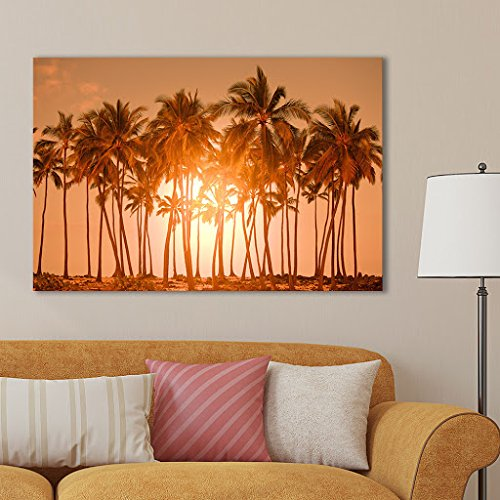 Beautiful Scenery Landscape Palm Trees on Tropical Beach Nature Beauty Wall Decor ation Print