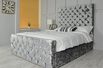 crushed velvet diamante bed