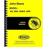 New Parts Manual For John Deere 44H Plow (2-Bottom Moldboard)
