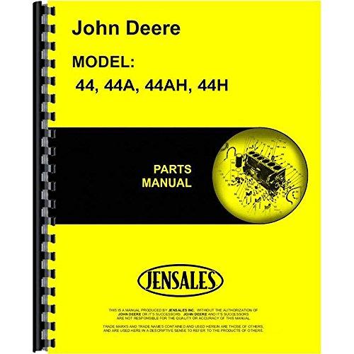New Parts Manual For John Deere 44H Plow (2-Bottom Moldboard)