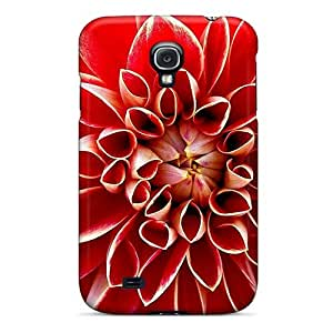 Rugged Skin Case Cover For Galaxy S4- Eco-friendly Packaging(red Dahlia)