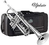 EastRock Trumpet Brass Standard Bb Trumpet Set