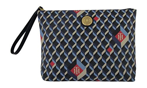 Tommy Hilfiger Large Zippered Makeup Bag Cosmetic Bag (TH Pattern)
