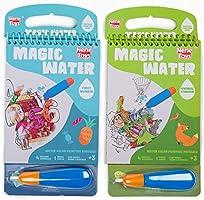 Nene Toys – Set de 2 Cuadernos Mágicos para Colorear con Agua [Animales y Números] - Libros de Dibujo Reutilizables para...