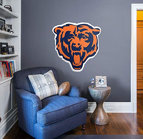 FATHEAD NFL Chicago Bears Officially Licensed Logo Removable Wall Decal, Multicolor, -