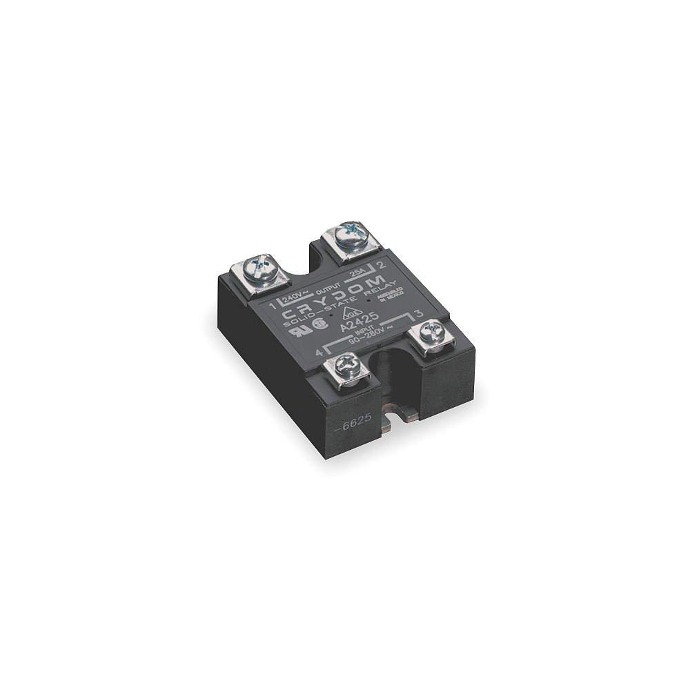 CRYDOM D2425-10 SSR, PANEL MOUNT, 280VAC, 32VDC, 25A