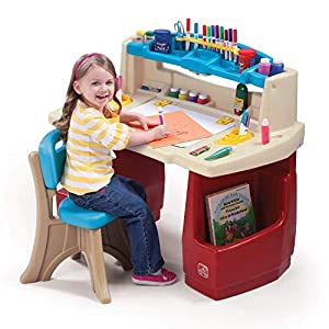 Step2 Deluxe Art Master Kids Desk (Deluxe Pack: Includes Chair and Accessories)