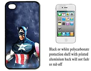 iPhone 4 4S Printed Hard Case With Aluminium Insert The Avengers Captain America