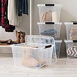 IRIS USA 32 Qt Clear Plastic Storage Box with