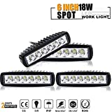 TURBOSII 4Pcs 6' Reverse Bumper DRL Driving Fog Work Lights...