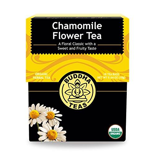 Chamomile Caffeine Free Tea - Organic Chamomile Flower Tea Leaves - Kosher, Caffeine-Free, GMO-Free - 18 Bleach-Free Tea Bags