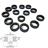 Lot of 14 Rubber Grommets 1-5/8'' Inside Diameter- Fits 2'' Wall Panel Holes