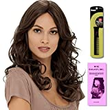 Isabel (Human Hair) by Estetica, Wig Galaxy Hair Loss Booklet & Magic Wig Styling Comb/Metal Pick Combo (Bundle - 3 Items), Color Chosen: R2