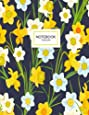 Daffodils Notebook: A Yellow Daffodil Flowers Notebook, 8.5 x 11