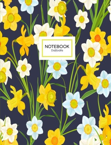 Daffodils Notebook: A Yellow Daffodil Flowers Notebook, 8.5 x (Yellow Items)