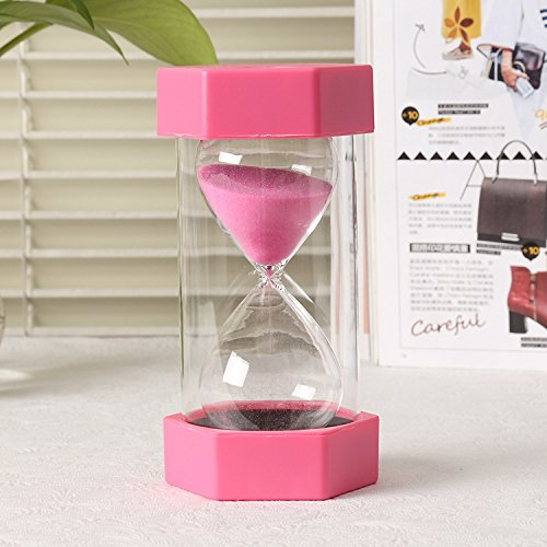 VEOLEY 10 Minute Sand Timer Security Fashion Hourglass for Kids, Classroom, Game,Kitchen,lunch-Pink by VEOLEY (Image #4)