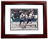 OJ Simpson Autographed / Hand Signed Buffalo Bills 8x10 Photo - MAHOGANY CUSTOM FRAME with 2003 yards inscription